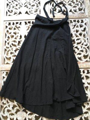 Falda larga negro Lino