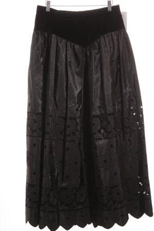 Maxi rok zwart extravagante stijl