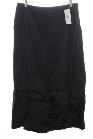 Maxirock schwarz extravaganter Stil
