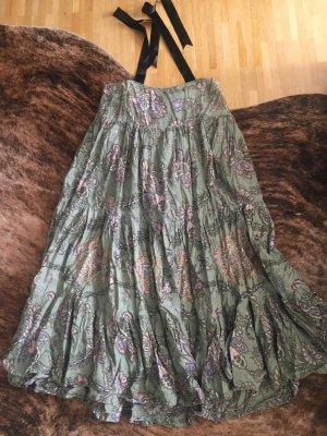 Maxirock Stufenrock Neckholder Kleid Dress Hippie Boho Ethno Folklore