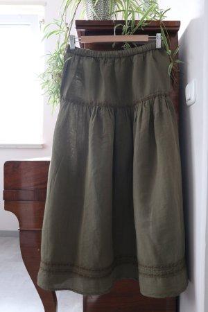 Gudrun Sjöden Maxi Skirt khaki cotton