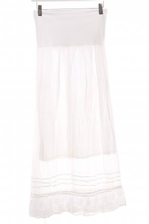Maxi rok wit Beach-look