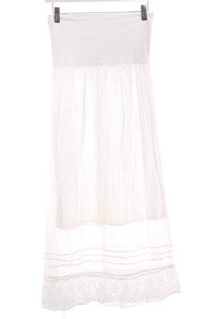 Falda larga blanco Estilo playero