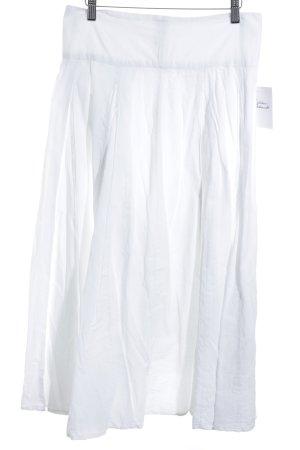 Maxi gonna bianco stile da moda di strada