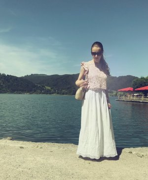 Zara Jupe longue blanc