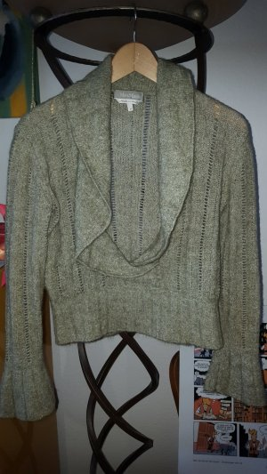 Max Mara Pull à gosses mailles vert pâle-kaki tissu mixte