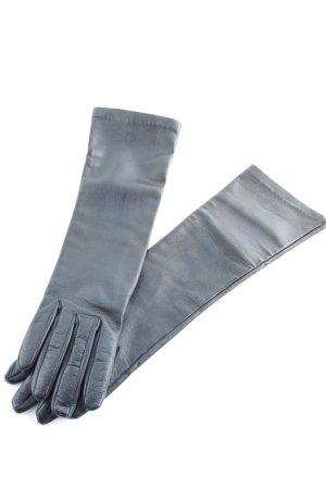 MaxMara Lederhandschuhe schwarz extravaganter Stil