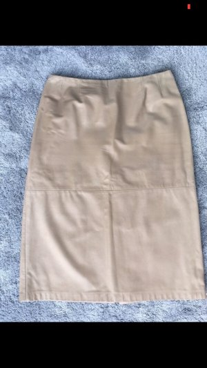 Max Mara Leather Skirt multicolored leather