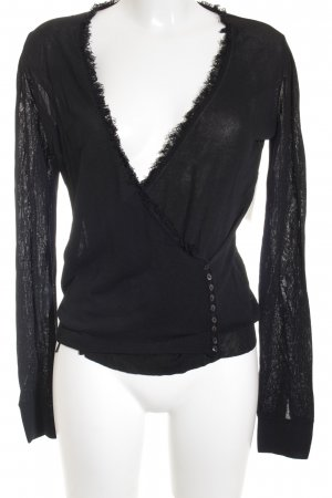 MaxMara Longshirt schwarz Casual-Look