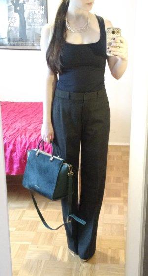 MaxMara Marlene Hose 34 XS Wolle Wollhose klassisch grau schwarz angora designer