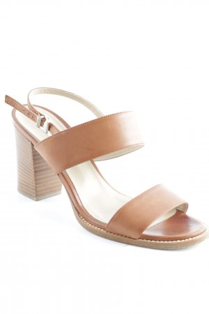 MaxMara Strapped High-Heeled Sandals brown simple style