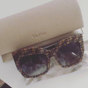 MaxMara Hoekige zonnebril roségoud-beige