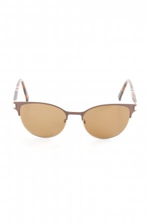 MaxMara Weekend Brille goldfarben-braun Leomuster Retro-Look
