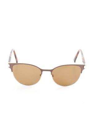 MaxMara Weekend Gafas color oro-marrón estampado de leopardo look retro