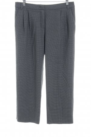 MaxMara Weekend Bundfaltenhose grau-dunkelblau Hahnentrittmuster Business-Look