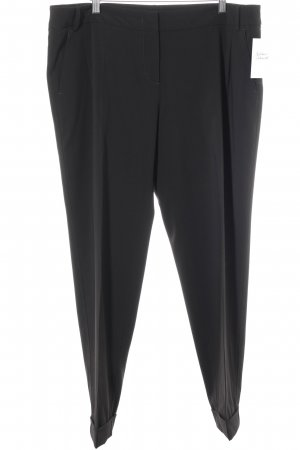 MaxMara Weekend Bundfaltenhose schwarz Business-Look