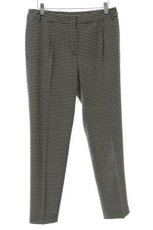 MaxMara Weekend Bundfaltenhose schwarz-creme abstraktes Muster Business-Look