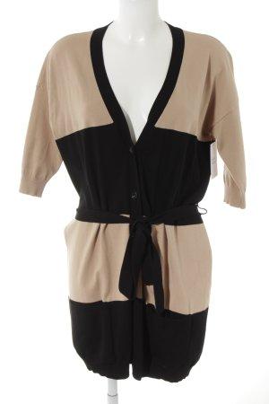 MaxMara Weekend Cardigan schwarz-beige Streifenmuster Casual-Look