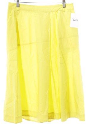 MaxMara Weekend Plaid Skirt yellow casual look