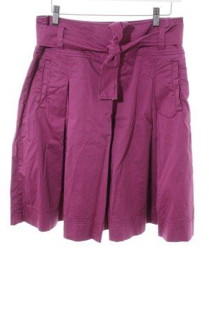 MaxMara Weekend Faltenrock violett Casual-Look