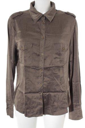 MaxMara Weekend Hemd-Bluse graubraun Elegant