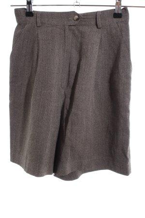 MaxMara Weekend High-Waist-Shorts hellgrau meliert Casual-Look