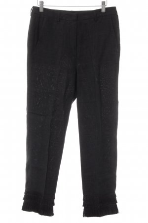MaxMara Weekend Leinenhose schwarz Casual-Look
