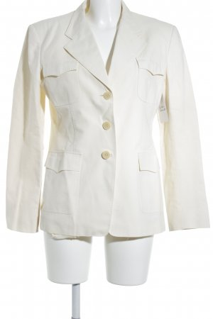 MaxMara Weekend Long-Blazer creme Business-Look