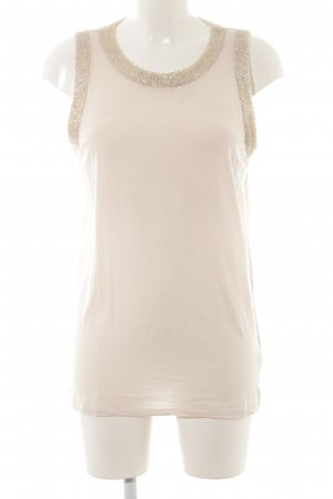 MaxMara Weekend Camiseta sin mangas crema look casual