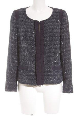 MaxMara Weekend Woll-Blazer dunkelblau-silberfarben meliert klassischer Stil