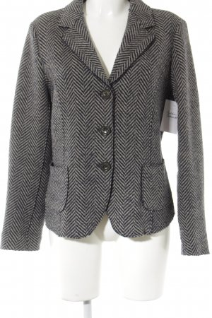 MaxMara Weekend Woll-Blazer graubraun-anthrazit Glencheckmuster Business-Look
