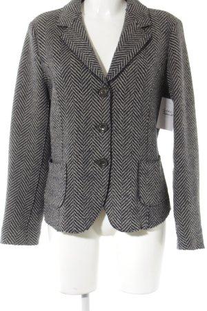 MaxMara Weekend Woll-Blazer graubraun-anthrazit Glencheckmuster Business-Look