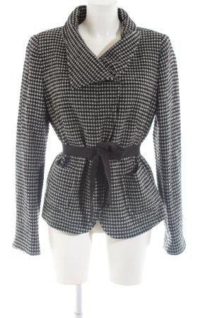 MaxMara Weekend Giacca di lana nero-bianco motivo a quadri stile professionale