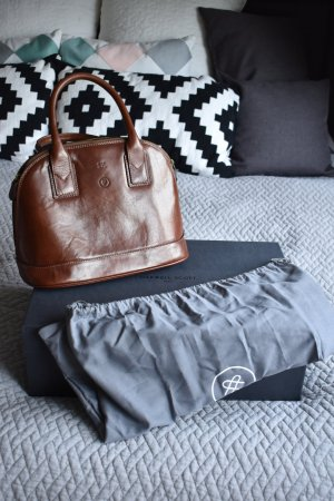Carry Bag brown-cognac-coloured leather
