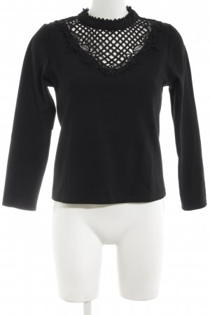 MAY Crochet Shirt black elegant