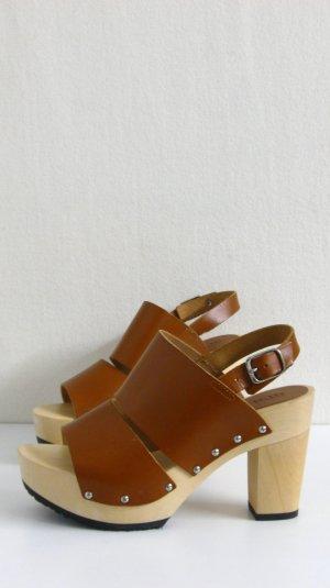 May Sandalen, Leder/Holz