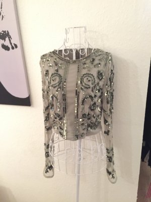 Maya crop Shirt, Bluse, kurze Bluse, Pailletten, tüllbluse, Glitzer