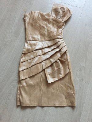 Vestido bustier crema