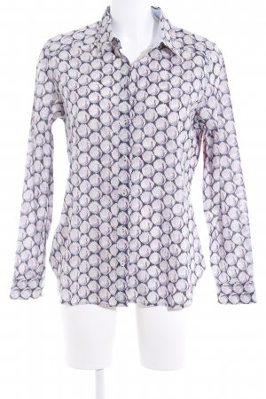 Mayfair London Langarm-Bluse abstraktes Muster Casual-Look