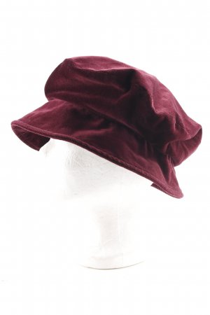 Mayser-Milz Cappello da panettiere bordeaux stile stravagante