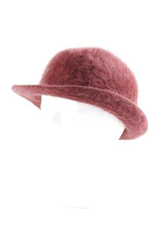 Mayser-Milz Chapeau en laine rouge foncé style classique