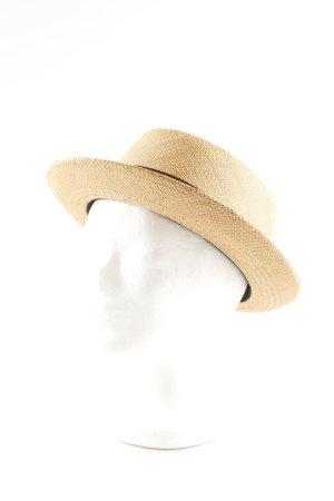 MAYSER Straw Hat cream-brown classic style