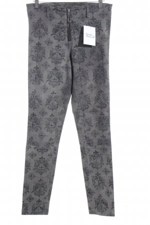 Maze Leather Trousers light grey-grey floral pattern street-fashion look