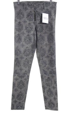 Maze Leren broek lichtgrijs-grijs bloemen patroon straat-mode uitstraling