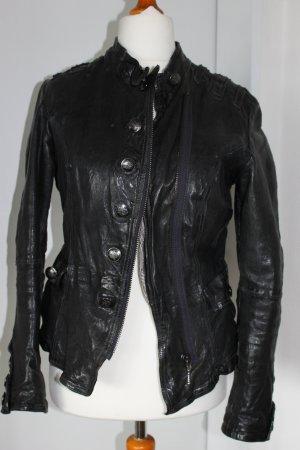 Maze Lederjacke im Uniformstyle schwarz