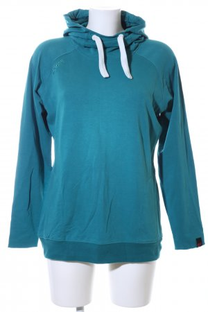 Mazine Hooded Sweater turquoise casual look
