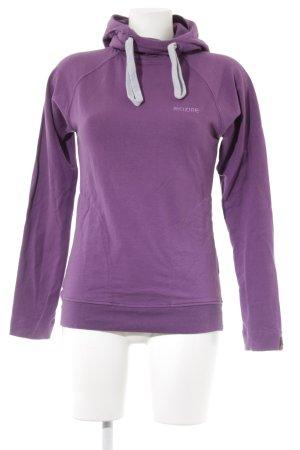 Mazine Jersey con capucha lila look casual