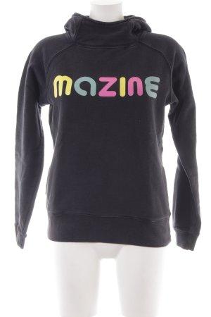 Mazine Jersey con capucha letras impresas look casual
