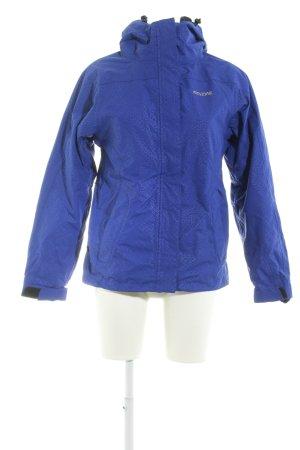 Mazine Outdoorjacke blau-schwarz abstraktes Muster sportlicher Stil