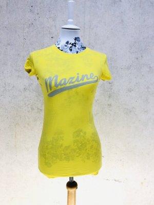 Mazine T-Shirt neu Gr. XS 34 gelb Logo
